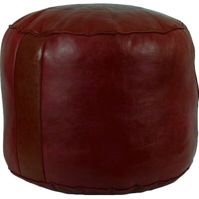 Neasa�Fez Leather Pouf Upholstery: Garnet