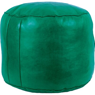 Neasa�Fez Leather Pouf Upholstery: Green