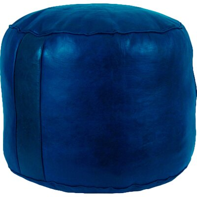 Neasa�Fez Leather Ottoman Upholstery: Navy Blue
