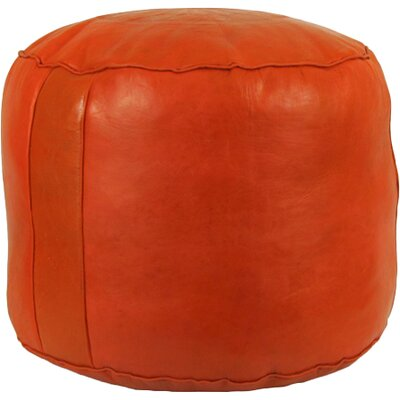 Antonelli Tabouret Fez Leather Ottoman Upholstery: Orange