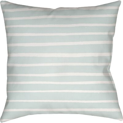 Smetana Outdoor Throw Pillow Size: 18 H x 18 W x 4 D, Color: Light Blue