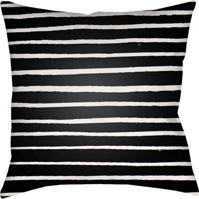 Smetana Outdoor Throw Pillow Size: 18 H x 18 W x 4 D, Color: Black