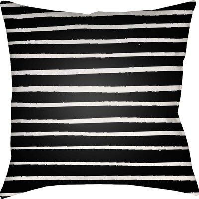 Smetana Outdoor Throw Pillow Size: 20 H x 20 W x 4 D, Color: Black