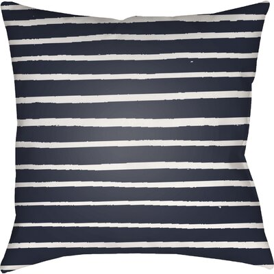 Smetana Outdoor Throw Pillow Size: 20 H x 20 W x 4 D, Color: Dark Blue