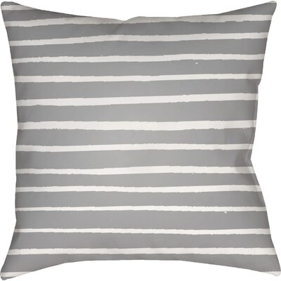Smetana Outdoor Throw Pillow Size: 18 H x 18 W x 4 D, Color: Gray