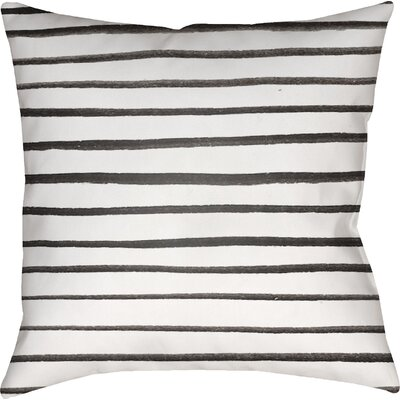 Smetana Outdoor Throw Pillow Size: 18 H x 18 W x 4 D, Color: White