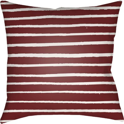 Smetana Outdoor Throw Pillow Size: 18 H x 18 W x 4 D, Color: Red
