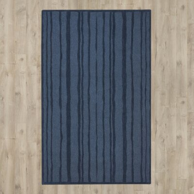 Freehand Stripe Hand-Loomed Wrought Iron Area Rug Rug Size: Rectangle 5 x 8