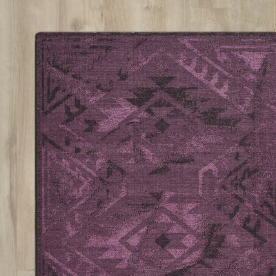 Circinus Purple Area Rug Rug Size: Rectangle 2 x 36