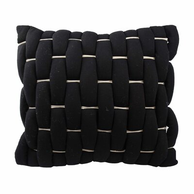 Parry Throw Pillow Color: Black