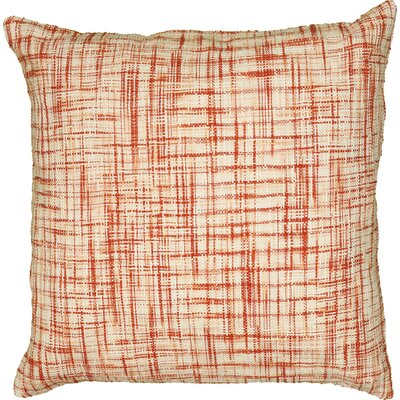 Wyss 100% Cotton Pillow Cover Color: Orange / Ivory