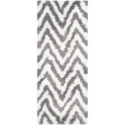 Haupt Gray/White Area Rug Rug Size: Runner 23 x 6