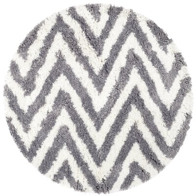 Haupt Gray/White Area Rug Rug Size: Round 4