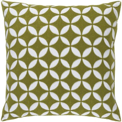 Mcculloch Cotton Throw Pillow Size: 18 H x 18 W x 4 D, Color: Lime/Ivory