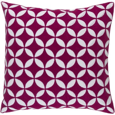 Mcculloch Cotton Throw Pillow Size: 22 H x 22 W x 4 D, Color: Hot Pink/Ivory