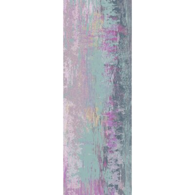 Arthurs Blue/Purple Area Rug Rug Size: Rectangle 8 x 10