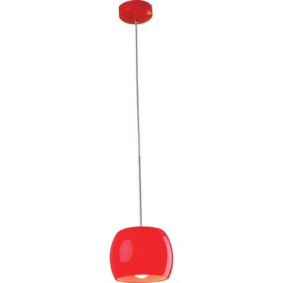1-Light Mini Pendant Shade Color: Red