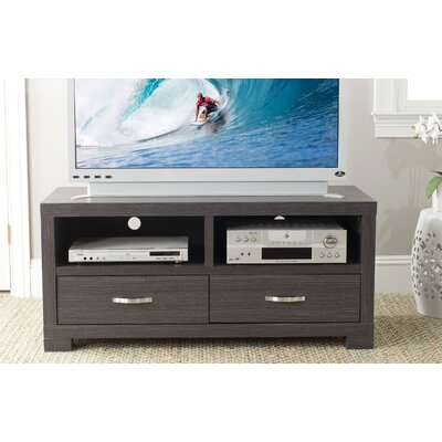 Homeros 47.2 TV Stand Color: Dark Gray/Charcoal/Woodgrain