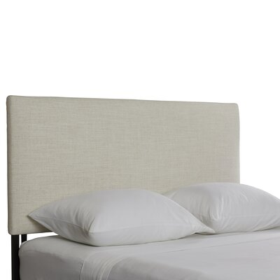 Aponte Upholstered Panel Headboard Size: Full, Upholstery: Talc