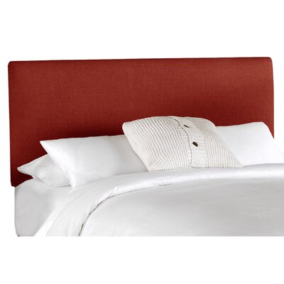 Aponte Upholstered Panel Headboard Size: Twin, Upholstery: Antique Red