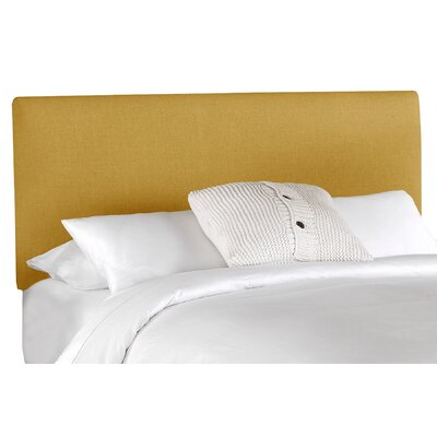 Aponte Upholstered Panel Headboard Size: Twin, Upholstery: French Yellow