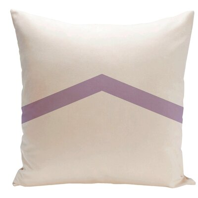 Down Throw Pillow Size: 16 H x 16 W, Color: Lilac