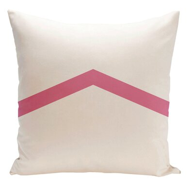 Down Throw Pillow Size: 16 H x 16 W, Color: Petal