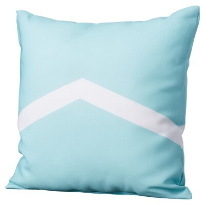 Down Throw Pillow Size: 16 H x 16 W, Color: Aqua