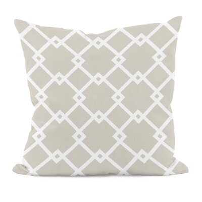 Hypatos Geometric Throw Pillow Size: 18 H x 18 W, Color: Oatmeal