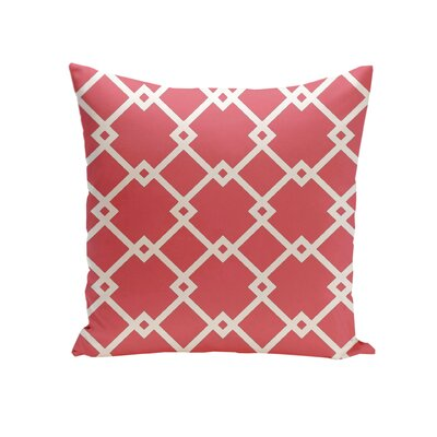 Hypatos Throw Pillow Size: 26 H x 26 W, Color: Coral