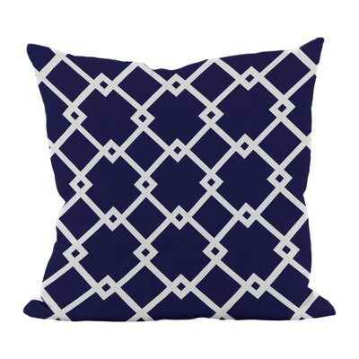Hypatos Geometric Throw Pillow Size: 18 H x 18 W, Color: Spring Navy