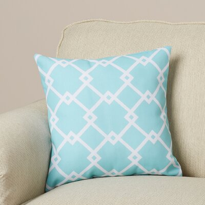 Hypatos Geometric Throw Pillow Size: 18 H x 18 W, Color: Aqua