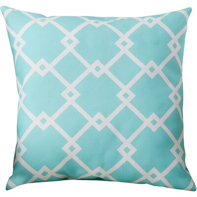 Hypatos Throw Pillow Size: 20 H x 20 W, Color: Aqua