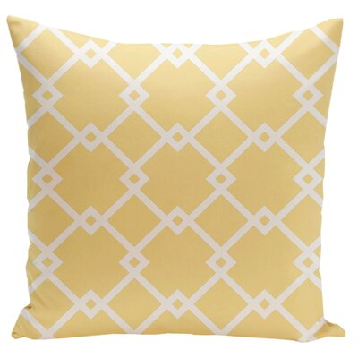 Hypatos Geometric Throw Pillow Size: 18 H x 18 W, Color: Lemon