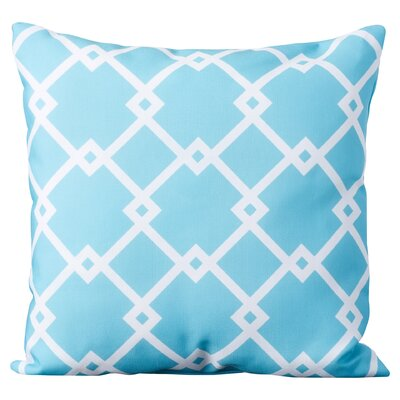Hypatos Geometric Throw Pillow Size: 26 H x 26 W, Color: Bahama