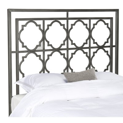 Cepheus Open-Frame Headboard Size: Twin, Color: Antique Iron