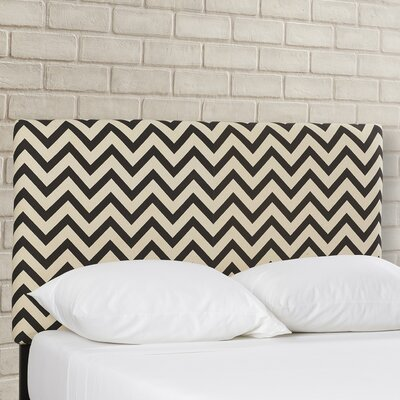 Cespedes Upholstered Panel Headboard Size: Twin, Upholstery: Black / White