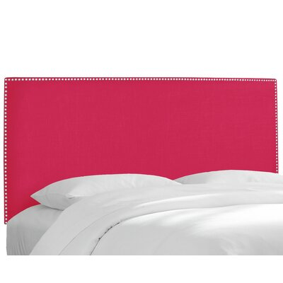 Upholstered Panel Headboard Upholstery: Linen Fuchsia, Size: King