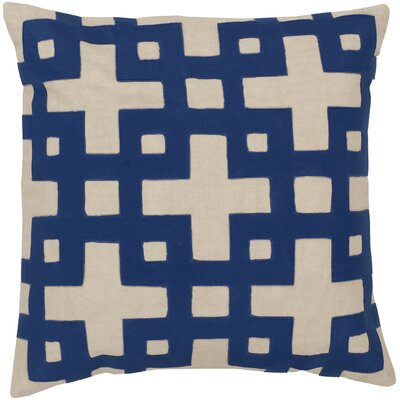 Cotton Throw Pillow Color: Blue/Neutral