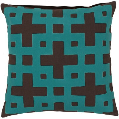 Cotton Throw Pillow Color: Chocolate/Green