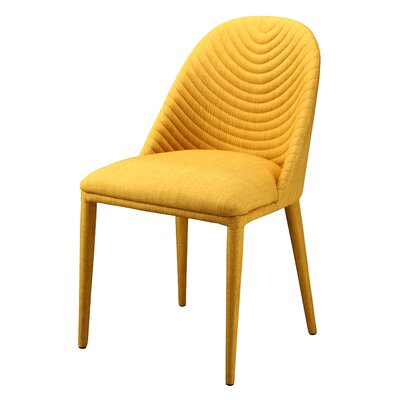 Artrip Upholstered Dining Chair Upholstery: Yellow
