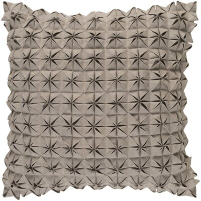 Mcculley Wool Throw Pillow Size: 18 H x 18 W x 4 D, Color: Taupe