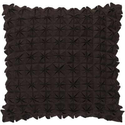 Mcculley Wool Throw Pillow Size: 18 H x 18 W x 4 D, Color: Black