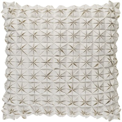 Wool Throw Pillow Size: 22 H x 22 W x 4 D, Color: Ivory
