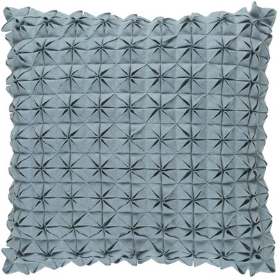 Wool Throw Pillow Size: 22 H x 22 W x 4 D, Color: Aqua