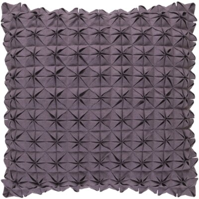 Wool Throw Pillow Size: 20 H x 20 W x 4 D, Color: Gray