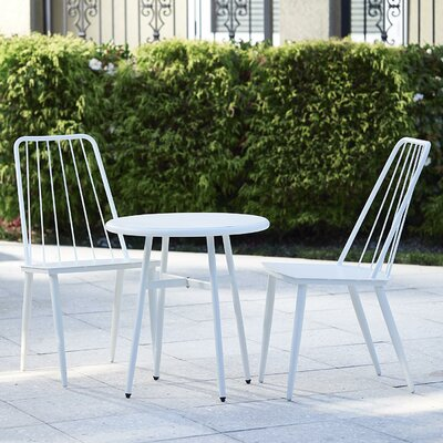 Bainbridge Cottage 3 Piece Bistro Dining Set Finish: White
