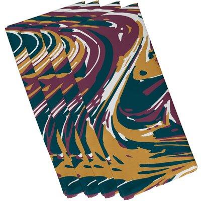 Buentello Marble Blend Geometric Print Napkin Color: Purple
