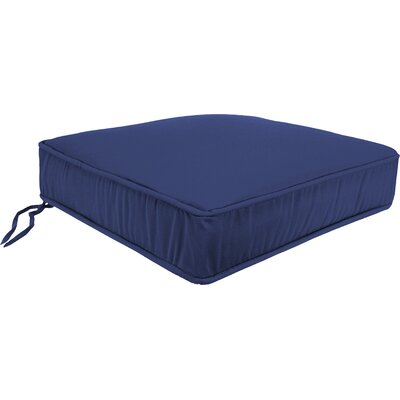 Plain Outdoor Sunbrella Lounge Chair Cushion Fabric: Echo Midnight
