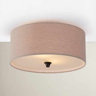 Onasander 2-Light Flush Mount Bulb Type: Fluorescent GU24 13W, Finish: Burnt Sienna